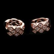Cercei mici eleganti placati aur cu cristale