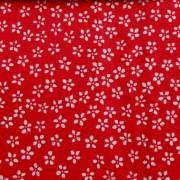FLORETT, apró virágos pamutvászon, piros