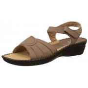 Dr Scholl Women's Nwalksandal Yellow, Beige and Gold Leather Fashion Sandals - 6 UK/India (39 EU) (6648882)