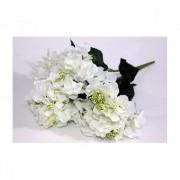 Flori Artificiale Buchet Hortensie 6 Flori Alb