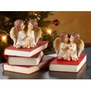 Infactory 2 duos d'anges de Noël décoratifs - 14 cm