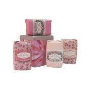 Coffret caixa de metal rosa 4 sabonetes de rosa de 100g - Klorane