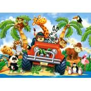 Puzzle Castorland - Softies on Safari, 40 piese MAXI