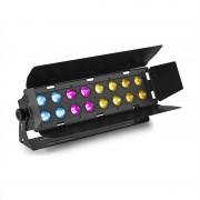 Beamz WH192, wall wash светлинен ефект, 100 W, 16 x 12 W 6 в 1 LED диоди, RGBWA-UV, IR дистанционно управление, черен (Sky-150.683)