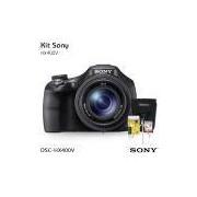Câmara Digital Sony Cyber-shot DSC-HX400V, com Cartão de 32gb (C/10), Bolsa, Tripé de mesa e Kit Limpeza