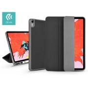 Apple iPad 10.2 (2019) védőtok (Smart Case) Apple Pencil tartóval - Devia Leather Case - black