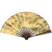 K Decoration Foldable Solid Beige Hand Fan(Pack of 1)