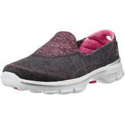 Skechers Women's Go Walk 3 - Elevate Charcoal and Pink Nordic Walking Shoes - 6 UK/India (39 EU) (9 US)