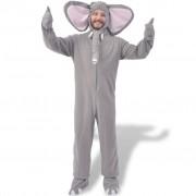 vidaXL Karnevalový kostým slon šedý XL–XXL