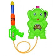 Baal Holi Water Gun with Pressure with Back Holding Tank for Kids, K-045, 70 Gram, Multi Colored, Pack of 1