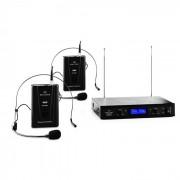 Malone VHF 400 Duo 2 2 canale VHF microfon fără fir set receptor 1x + 2x microfoane - casca (BR4-VHF-400 DUO 2)