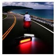 Super Potente Luz de Bicicleta de 100 Lumens Recargable USB Luz Roja o Blanca Led Lampara