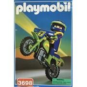 Vintage Playmobil Striker Motorcycle and Figure #3698