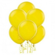 Solid Round Yellow Balloon (Pack of 15 Pcs)