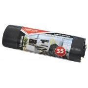 Saci menaj super rezistenti negri 35L, cu manere, 15buc/rola, Office Products