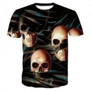 Fashion Skeleton 3D Print Men's Casual Short Sleeve Graphic T-Shirt