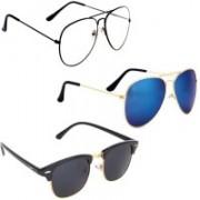 Sulit Aviator, Wayfarer, Cat-eye Sunglasses(Clear, Black, Blue)