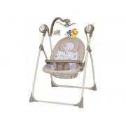 Leagan Electric Copii Cu Muzica Baby Mix SW102RC Beige
