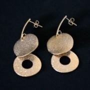 Semi Jewelry Earring Plated Gold Medium Glamur