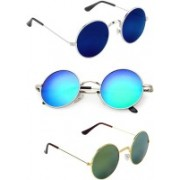 Rich Club Round Sunglasses(Green, Blue)