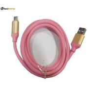 Basitronics QT Micro USB Charging and Data cable 110 Centimeters Light Pink