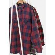 Urban Renewal Vintage - Veste matelassée en flanelle écossais rouge pour homme- taille: S/M