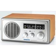 WR-1 WS Klasszikus fa dobozos asztali rádió FM AM dióezüst