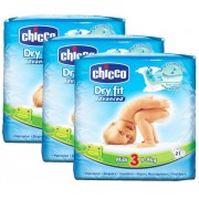 Chicco Pañales Chicco Dry Fit Midi Advanced T3 (4-9 Kg) 63 Uds