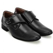 Crown Sapphire Dotted Slip On Formal Shoes For Men (Black 6 UK)