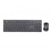 Kit tastatura si mouse Gembird KBS-WCH-01Slim Wireless Desktop Set Black
