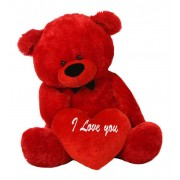 Red 3.5 Feet Big Teddy Bear with a Red I Love You heart