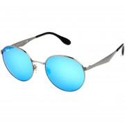 Lentes De Sol Ray-Ban Round Metal Aluminium RB3537 004/55 -Azul Espejo