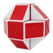 rompecabezas de cubo de regla de serpiente magica shengshou 24 juguete de giro de etiqueta wedges sin pegatinas - rojo + blanco
