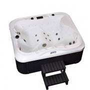 Whirlpool Outdoor Whirlpool Hot Tub Spa Valencia 195x170 cm mit 21 Massage Düsen + Heiz...