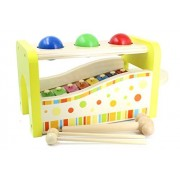 Aile Wooden Pound & Tap Bench with Slide Out Xylophone Toy for Toddlers