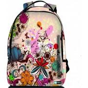 Sleevy laptop rugzak 17,3 Deluxe kleurrijk bloemen design
