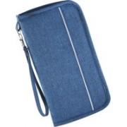 Gilmore Oak Travel Passport Holder Wallet Credit Debit Card Case Ticket Currency Boarding Pass Pen Organizer(Blue)