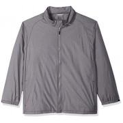 Cutter & Buck Men's Weathertec Wind-Water Resistant Packable Panoramic Jacket, Black, 4X Big
