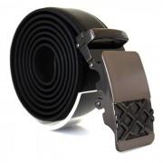 Läderbälte stripe svart 987