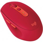 Miš Logitech M590 Silent, bežični, crveni