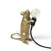 Seletti Lampe de table Mouse Standing #1 / Souris debout - Seletti doré en matière plastique