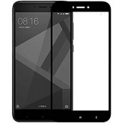 CLICKAWAY Redmi 4 glass Guard Black pro Hd+ Crystal Clear Full Screen Coverage Tempered Glass Screen Protector