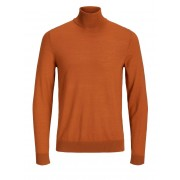 JACK & JONES Superfijne Merinoswollen Coltrui Heren Bruin / Autumnal / M