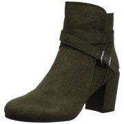 Madden Girl Women's Rightonn Ankle Bootie, Olive Fabric, 9 M US