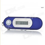 """Digital MP3 Player Portable 1.2"""" TFT USB w / FM - Azul (8GB / 1 x AAA)"""