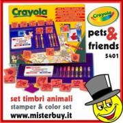 CRAYOLA 5401 SET TIMBRI E COLORI AMICI ANIMALI