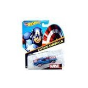 Brinquedo Hot Wheels Carros Marvel, 1 Peca - Capitao America - Bdm71