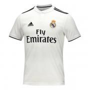 Tricou de Fotbal cu Mânecă Scurtă Bărbat Adidas Real Madrid Alb 18/19 (1ª) - Mărime S