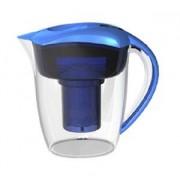 Vatten filterkanna + Alkalisk filterkanna 2-i-1 blå