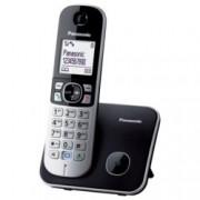 """Безжичен телефон Panasonic KX-TG 6811, 1.8""""(4.6cm) монохромен дисплей, черен"""